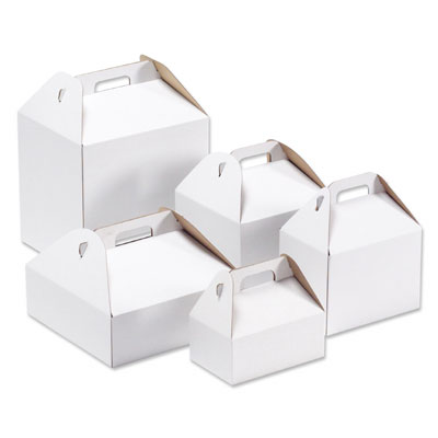 The Container Store also has these boxes -- the smaller one is perfect to line with some tissue paper and pile in some leftover desserts like cookies or cupcakes.