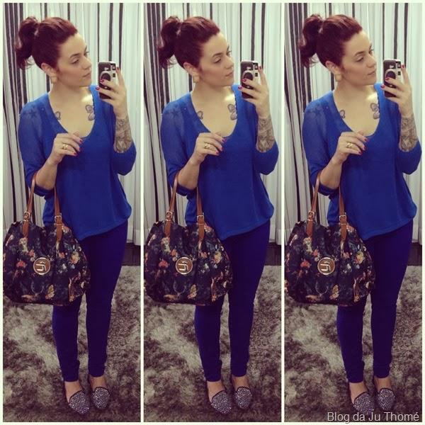 look todo azul, bolsa estampada (2)