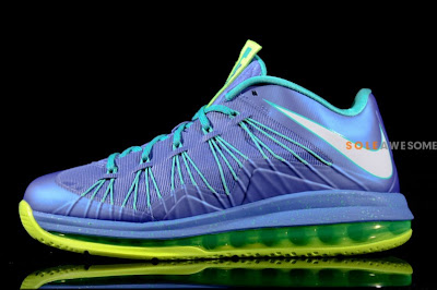 nike lebron 10 low gr blue green 1 02 First Look at Nike Air Max LeBron X Low Summit Lake Hornets