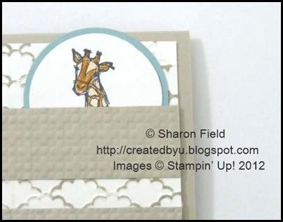 ink the fancy fan folder with sahara sand ink