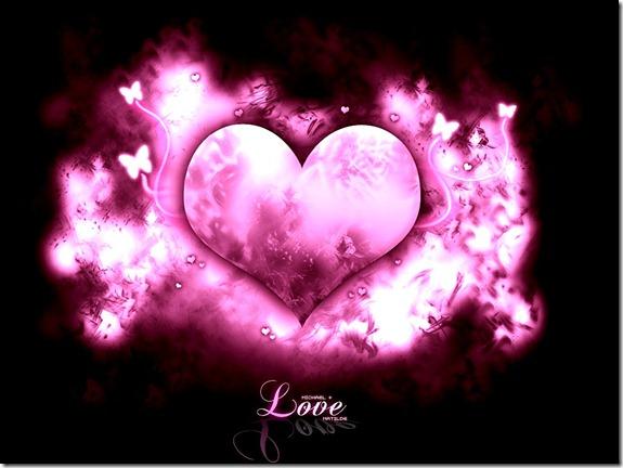 Beautiful Pink Love Wallpaper