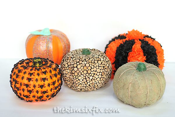 Dollar store pumpkin transformations