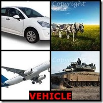 VEHICLE- 4 Pics 1 Word Answers 3 Letters