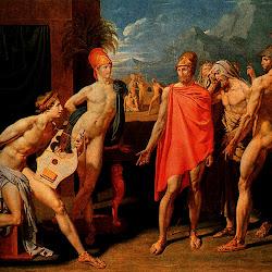 Ingres, Gli ambasciatori di Agamennone nella tenda di Achille 1801