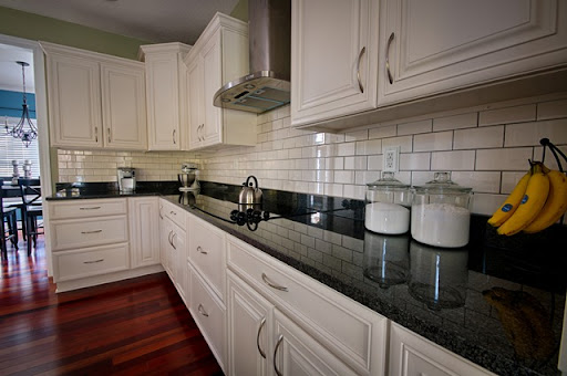 Install a Kitchen Backsplash without Mortar! & Kitchen Backsplash: Subway Tile Edition \u2014 Decor and the Dog