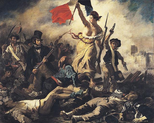 """La Libertad Guiando al Pueblo """"Eugene Delacroix"""""""