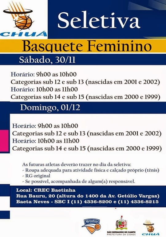 CARTAZ DO BASQUETE FEM
