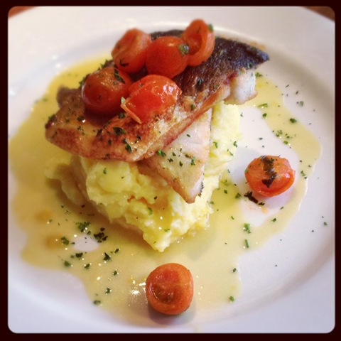 #78 - Alghero&#39;s sea bass with saffron mash