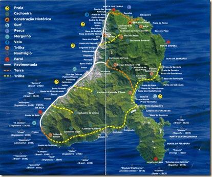 Mapa das Praias e Atrativos pq