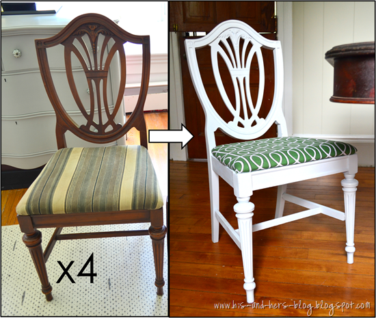shield back chair makeover