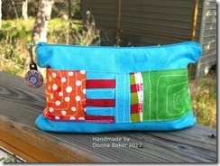 stitch in color clutch