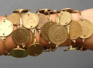 Bourbon & Boweties Coin Bracelets $36.00