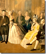 [Marie Antoinette hosting Benjamin Franklin]