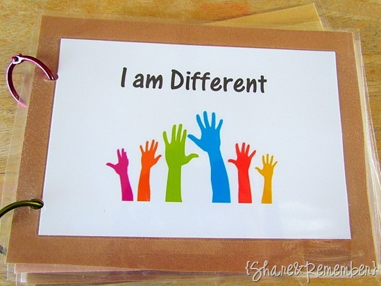 Book Cover Making Ideas : I am different homemade books share remember