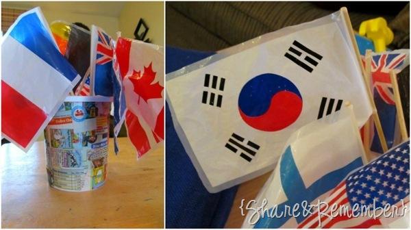 flags for preschool play