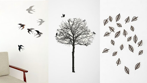 These wall decals are poignant or eerie, depending on how you use them. (www.urbanoutfitters.com)