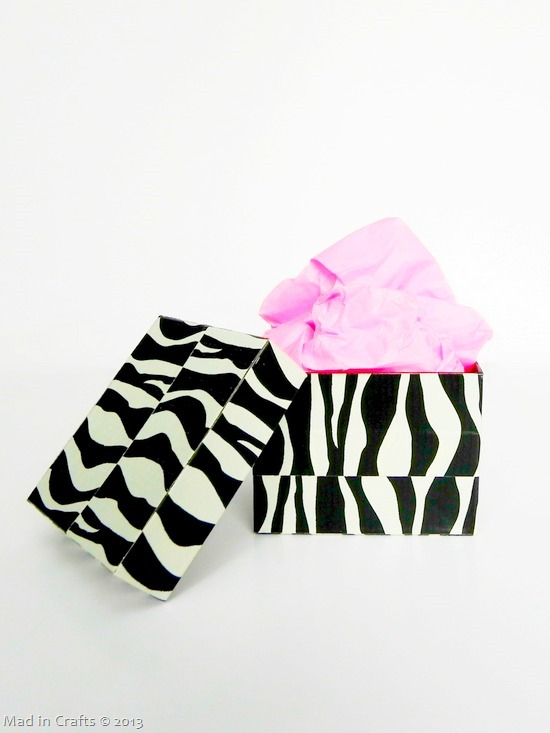 gift box wrapped in duct tape