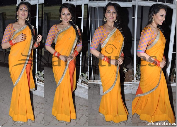 Sonakshi_Sinha_Yellow_Saree