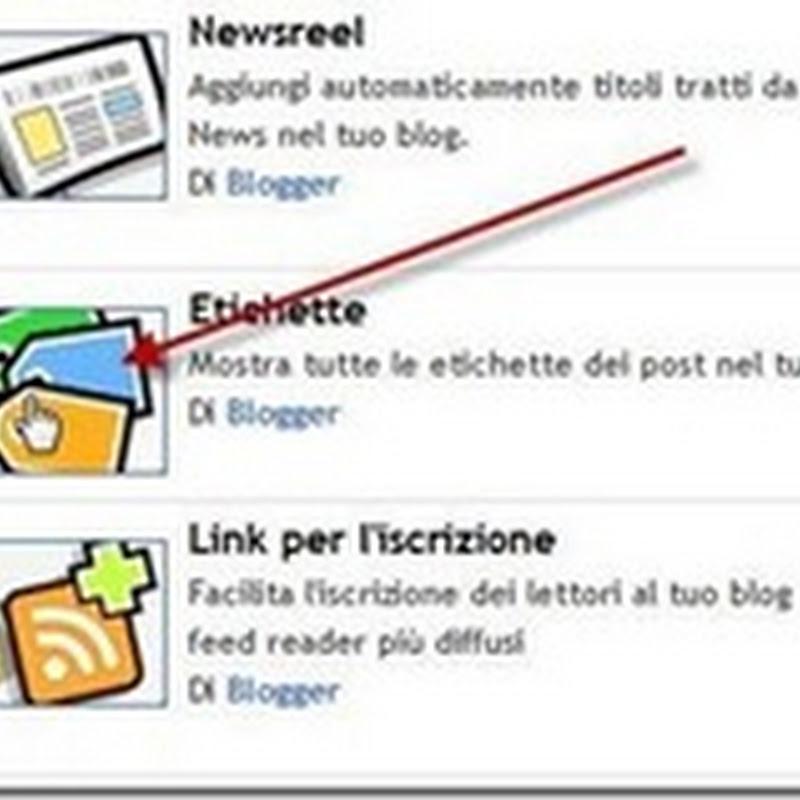 Gestire le etichette in Blogger: come aggiungere una descrizione.