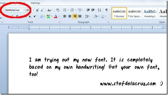 Convert handwriting to font