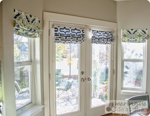 Gentil This Tutorial Will Help You Make Roman Shades For French Doors. They Are  Real Roman Shades, Meaning They Pull Up With Cording. They Are Not Faux  Shades!