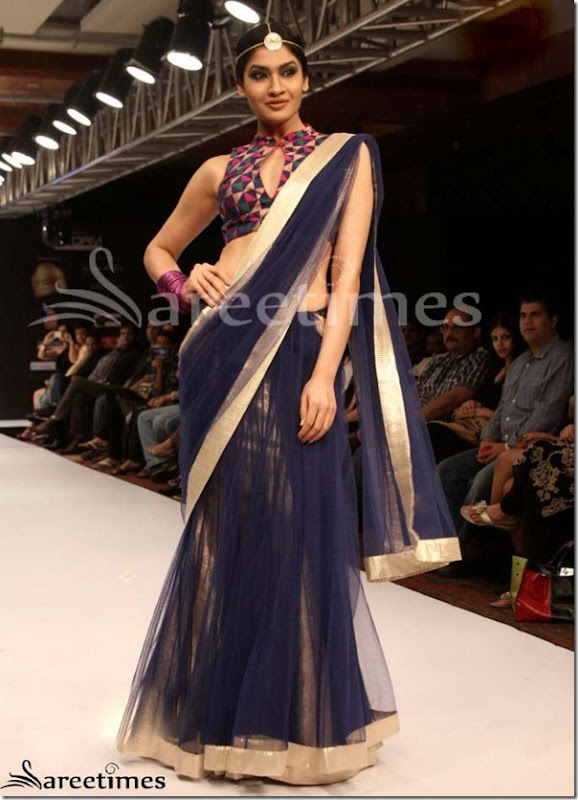 Blue_Net_Saree