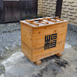interesting trash can at Edo Wonderland in Nikko, Totigi (Tochigi) , Japan