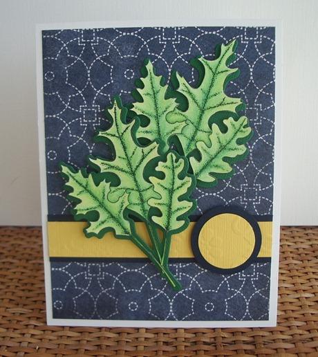 Spring card, Spring leaves, Memory Box Leaf Trio Stamp, Memory Box Leaf Trio Die, Scrapadoodle, Carla's Scraps (1)