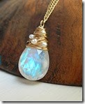 Sarah Hickey Moonstone Pendant with Freshwater Pearls