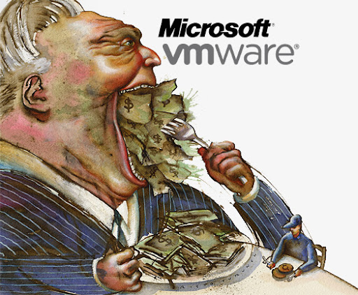 greedy microsoft vmware