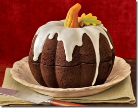 pumpkin cake from 2 bundt pans