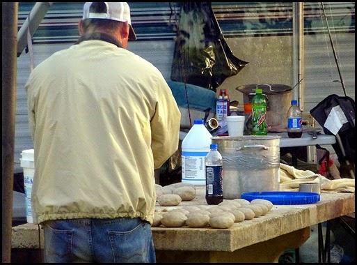 04b - Neighbor making Shrimp Bait