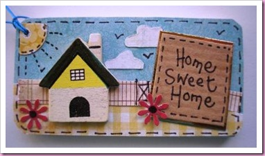 Wooden New Home Gift Tag