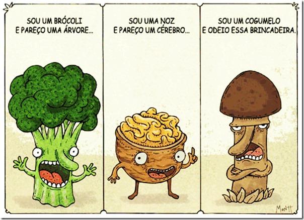Cogumelos não curtem jogo da semelhança