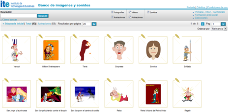 Clipart de pessoas e ações no Banco de Imágenes y Sonidos do ITE