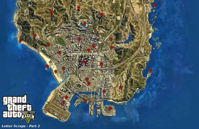 gta 5 letter scraps locations guide 03 lower map bb