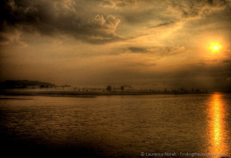 Sunset Mekong River Thailand
