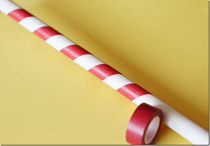 Washi Tape Candy Cane Dowel
