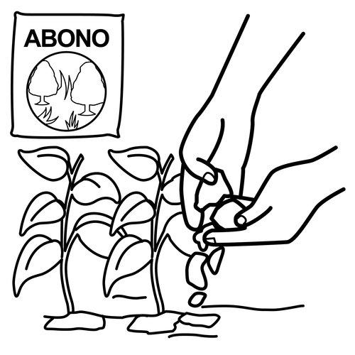 Colorear dibujos de abono for Suelo organico para dibujar