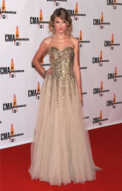 Elegant-Sweetheart-Long-Gold-Sequined-Taylor-Swift-Red-Carpet-Celebrity-Dress_2