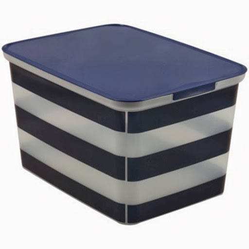 cute storage boxes · sripedbins striped bins ...  sc 1 st  A Thoughtful Place & Pretty Storage Solutions: Major Sale - A Thoughtful Place