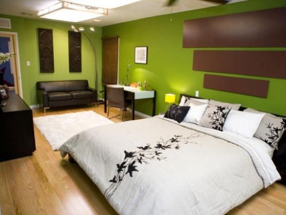 chambre ado seourpicz - Chambre Marron Et Vert