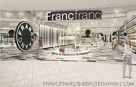 FRANCFRANC SINGAPORE VIVOCITY JCUBE FLAGSHIP STORE OPENING SPRING SUMMER 2012 home furnishing fabric, lighting appliance kitchen