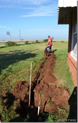 DIY Home Renovation, plumbing, trenching, water supply lines