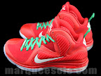 nike lebron 9 gr christmas 4 04 Throwback Thursday: Look Back at LBJs 2011 Christmas Shoes
