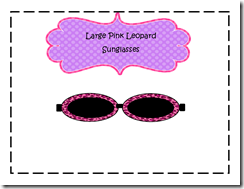 Large Pink Leopard Sunglasses