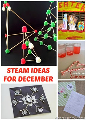 December STEAM Ideas for Kids