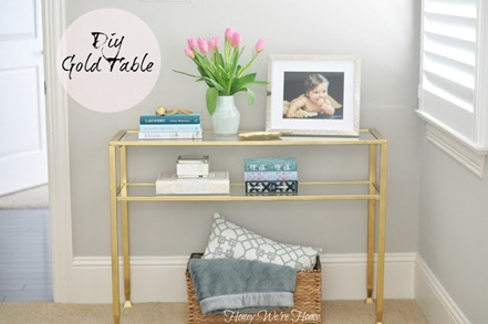 Gold Side Table Makeover - Honey Were Home