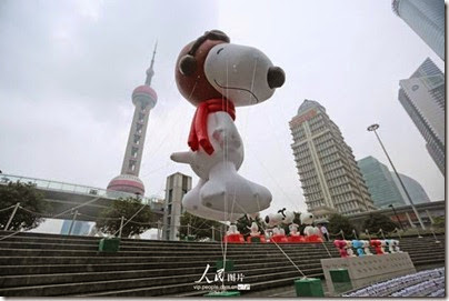 Snoopy at Pearl Square , IFC Mall, LuJiaZui, Shanghai 史努比。上海 17