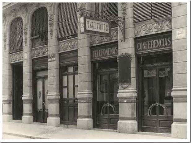 1914  compañia peninsular de telefonos calle alfredo calderon